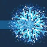 Natal do cumprimento e fundo do ano novo Ilustração Stock