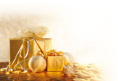 Natal do ouro Fotografia de Stock Royalty Free