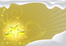 Natal do ouro e floral luminoso ilustração royalty free