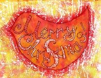 Natal do pássaro da aquarela Fotos de Stock Royalty Free