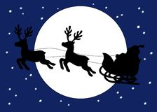 Natal do paizinho com o trenó Imagem de Stock Royalty Free