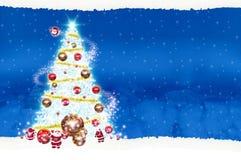 Natal do quadro de avisos do cartaz no fundo azul Imagem de Stock