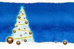Natal do quadro de avisos do cartaz no fundo azul Imagem de Stock Royalty Free