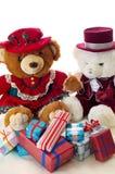 Natal do urso da peluche Fotografia de Stock