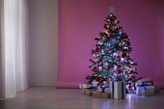 Natal dos presentes da árvore de Natal das decorações do Natal Imagem de Stock Royalty Free