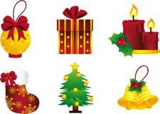 Natal dourado Fotos de Stock Royalty Free