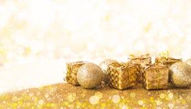 Natal dourado Imagem de Stock