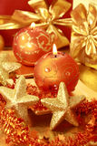 Natal dourado Foto de Stock Royalty Free