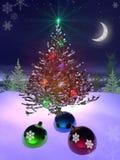 Natal e ano novo 3d ilustração do vetor