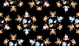 Natal e ano novo do macaco Fotografia de Stock Royalty Free