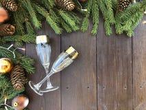 Natal e ano novo feliz  imagem de stock