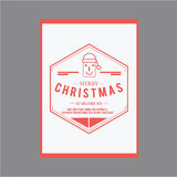 Natal e ano novo feliz Cartões da tampa Fotografia de Stock Royalty Free