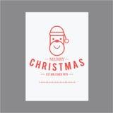 Natal e ano novo feliz Cartões da tampa Fotos de Stock Royalty Free