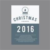 Natal e ano novo feliz Cartões da tampa Imagem de Stock