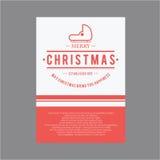 Natal e ano novo feliz Cartões da tampa Imagens de Stock