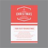 Natal e ano novo feliz Cartões da tampa Fotos de Stock