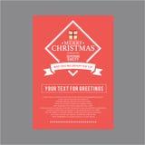 Natal e ano novo feliz Cartões da tampa Foto de Stock