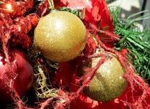Natal e anos novos da decoração Foto de Stock