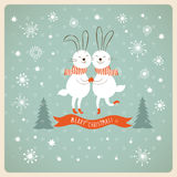 Natal e anos novos do cartão Foto de Stock