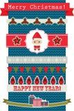 Natal e fitas e bandeiras de ano novo ilustração royalty free