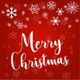 Natal e flocos de neve, luz, estrelas Cartão do Xmas Ilustração do vetor ilustração do vetor