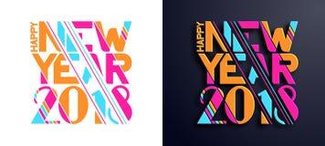 Natal e um ano novo 2018 Imagens de Stock Royalty Free