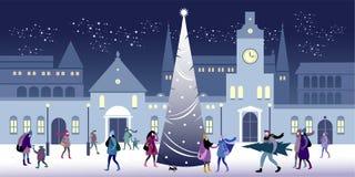 Natal e véspera de Ano Novo ilustração stock