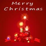 Natal e velas ilustração royalty free