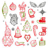 Natal, elementos do projeto Fotos de Stock Royalty Free