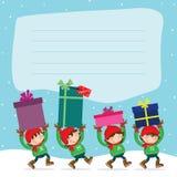 Natal Elf´s Foto de Stock