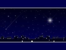 Natal em Bethlehem [azul] Imagens de Stock Royalty Free