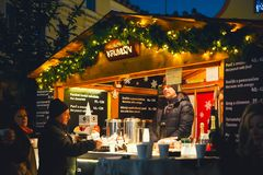 Natal em Cesky Krumlov, República Checa, Europa Imagem de Stock Royalty Free