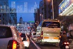 Natal em Gran através - de Madrid fotografia de stock