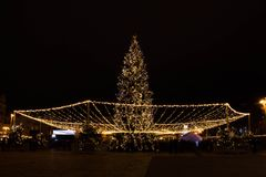 Natal em Kyiv Imagens de Stock Royalty Free
