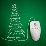 Natal em linha fotografia de stock