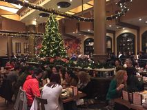 Natal em Max Brenners Chocolate em NYC Foto de Stock Royalty Free