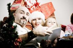 Natal Family Foto de Stock Royalty Free