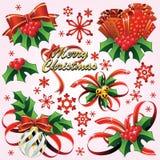 Natal feliz & Novo-Anos ilustração do vetor