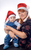 Natal feliz da família Imagem de Stock