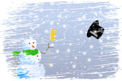 Natal feliz do blizzard Foto de Stock