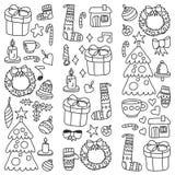 Natal, feriado, inverno, ilustração do vetor O teste padrão de ano novo, os desenhos das crianças com um professor, quadro ilustração royalty free