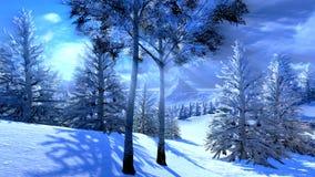 Natal, floresta mágica ilustração stock