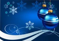 Natal. Fundo azul Foto de Stock Royalty Free