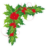 Natal Holly Leaves Ornaments Imagens de Stock