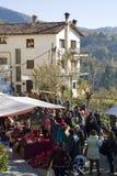 Natal justo em Espinelves, Espanha Imagens de Stock