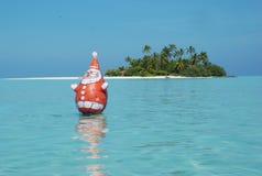 Natal Maldives da lagoa Fotografia de Stock