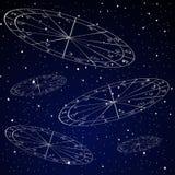 Natal mapy astrologii tło Obraz Stock