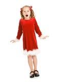 Natal: Menina muito entusiasmado para o Natal fotos de stock royalty free