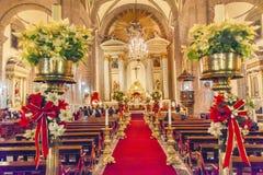 Natal metropolitano Eve Service Mexico City Mexico da catedral imagem de stock
