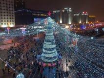Natal Minsk, Bielorrússia fotos de stock royalty free